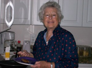 Great Nana Making Breakfast